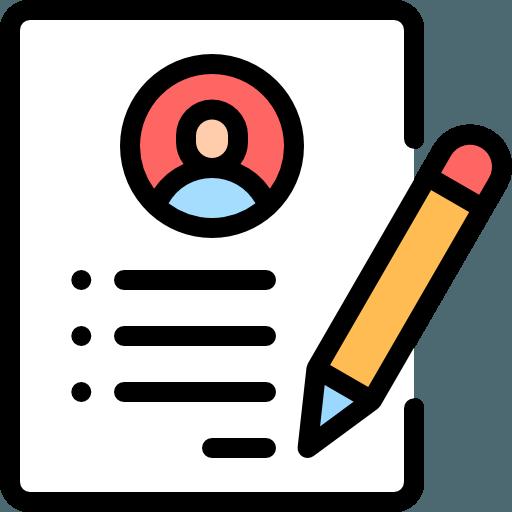 resume sample icon