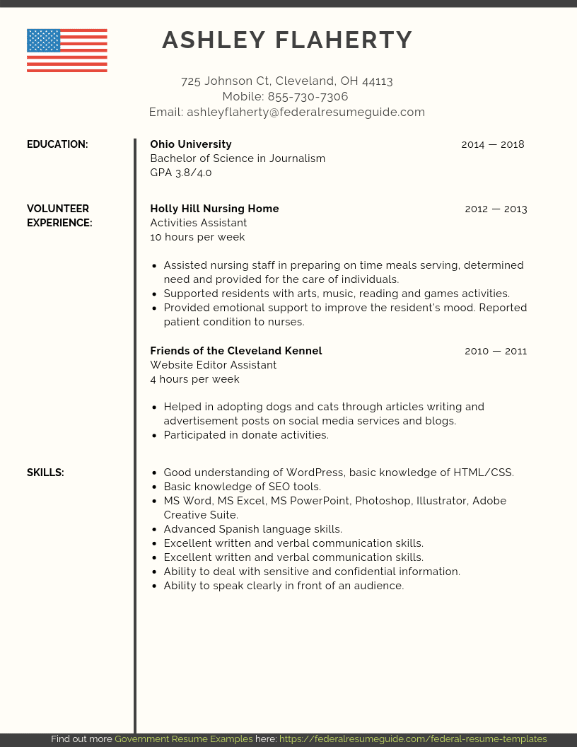 Entry Level Federal Resume Samples [PDF+MS Word] | Federal ...
